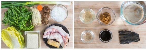 Monk Fish Hot Pot Ingredients