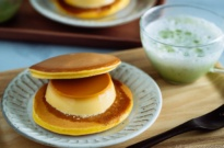 Purin Dora (Dorayaki with Custard Pudding) ぷりんどら