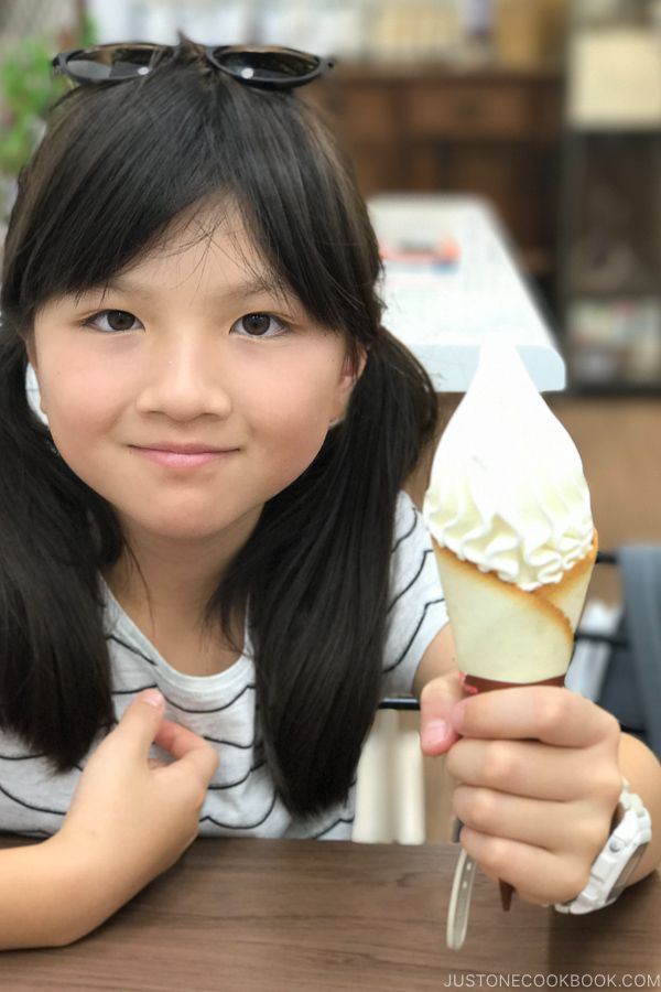 cremia ice cream at Yufuin roll shop - Yufuin Travel Guide | justonecookbook.com