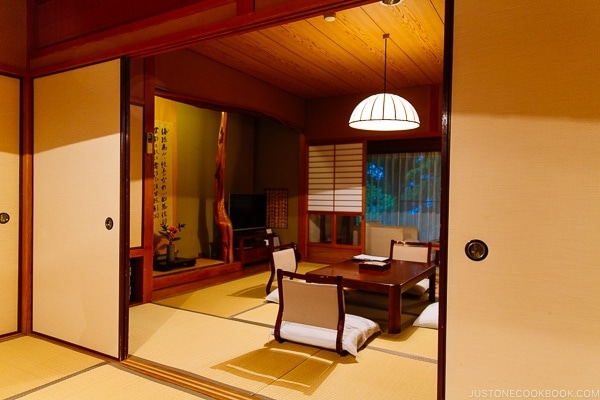 Japanese guest room at Musouen Hotel 山のホテル 夢想園 - Yufuin Travel Guide | justonecookbook.com