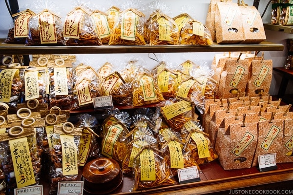 local snacks on display - Yufuin Travel Guide | justonecookbook.com