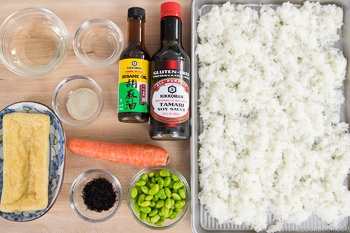 Japanese Fried Rice with Edamame Ingredients