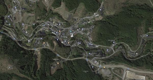 Google maps of Kurokawa Onsen - Kurokawa Onsen Travel Guide   justonecookbook.com