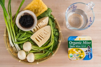 Vegetable Miso Soup Ingredients
