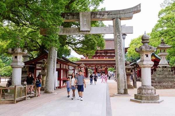 Torii gate at Dazaifu - Fukuoka Travel Guide | justonecookbook.com