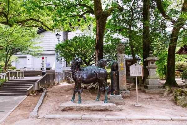 Kirin statue at Dazaifu - Fukuoka Travel Guide | justonecookbook.com