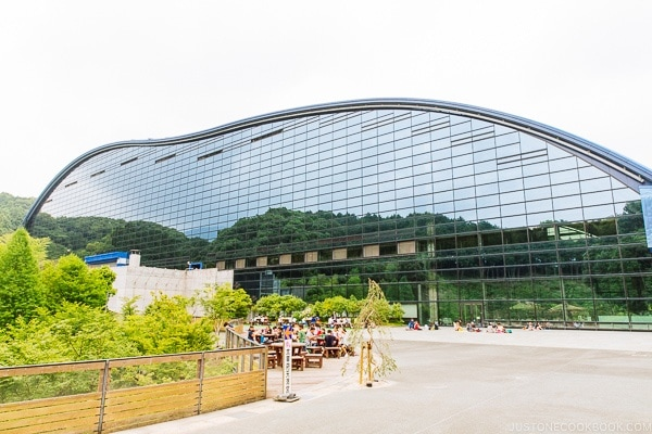 exterior of Kyushu National Museum - Fukuoka Travel Guide | justonecookbook.com