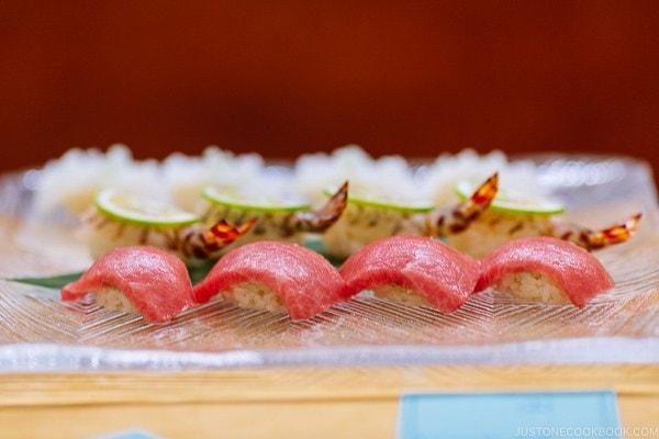 nigiri sushi at Sushi Yamanaka - Fukuoka Travel Guide | justonecookbook.com