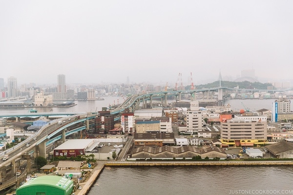 View of Fukuoka city from Fukuoka Port Tower - Fukuoka Travel Guide | justonecookbook.com