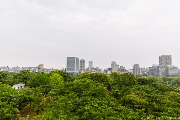 View of Fukuoka city from Fukuoka Castle - Fukuoka Travel Guide | justonecookbook.com