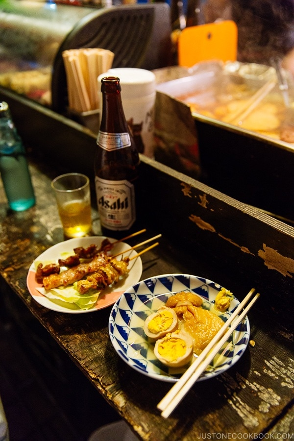 oden and yakitori at Naochan Yatai - Fukuoka Travel Guide | justonecookbook.com