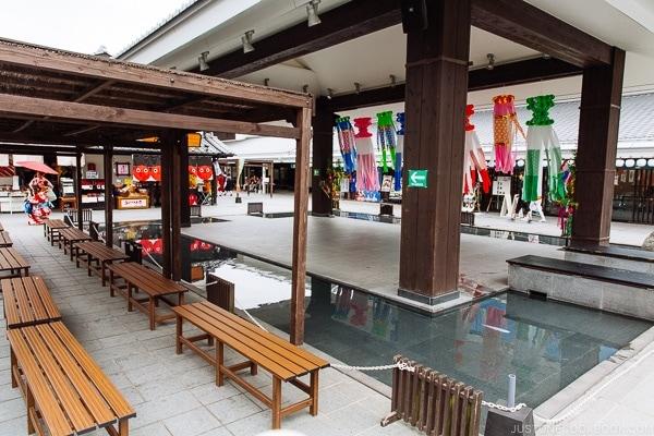 Plaza inside Josaien 城彩苑 - Kumamoto Travel Guide | justonecookbook.com