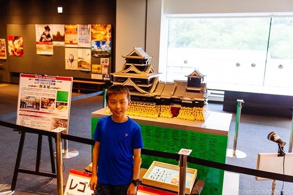 Lego Kumamoto Castle at Wakuwakuza History and Cultural Experience - Kumamoto Travel Guide | justonecookbook.com