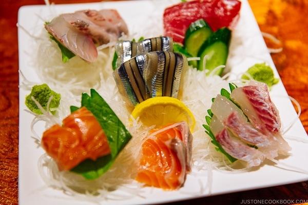 sashimi at ねぎぼうず Negibouzu Izakaya - Kumamoto Travel Guide | justonecookbook.com