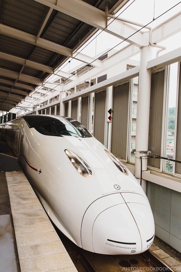 Kyushu Shinkansen 800 Series - Kumamoto Travel Guide | justonecookbook.com