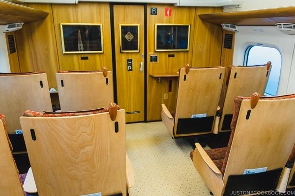 Interior of Kyushu Shinkansen 800 Series Tsubame - Kumamoto Travel Guide | justonecookbook.com