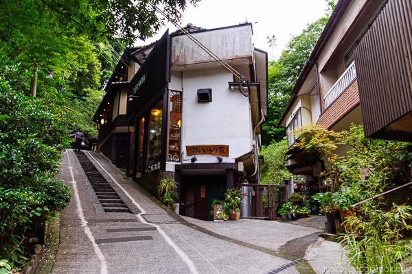 hilly street in Kurokawa Onsen - Kurokawa Onsen Travel Guide   justonecookbook.com