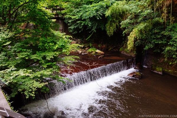 river view and waterfall view Kurokawa Onsen Travel Guide   justonecookbook.com