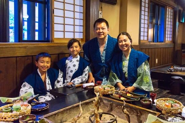 dinner at Shinmei-kan 山の宿 新明館 Kurokawa Onsen Travel Guide   justonecookbook.com
