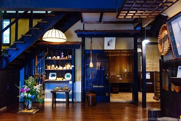 entrance lobby at Shinmei-kan 山の宿 新明館 Kurokawa Onsen Travel Guide   justonecookbook.com