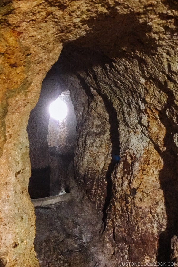 cave hot springs Shinmei-kan 山の宿 新明館 Kurokawa Onsen Travel Guide   justonecookbook.com