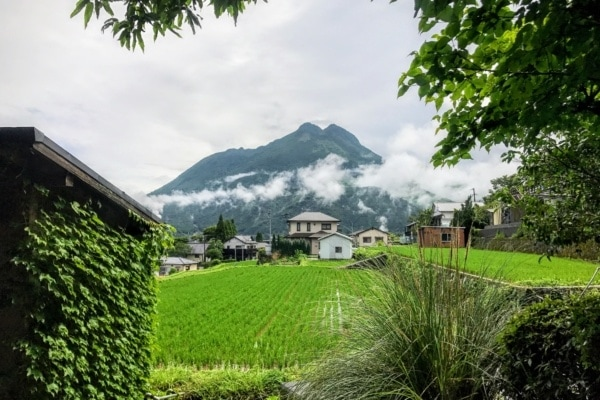 view of Mt. Yufu - Yufuin Travel Guide | justonecookbook.com