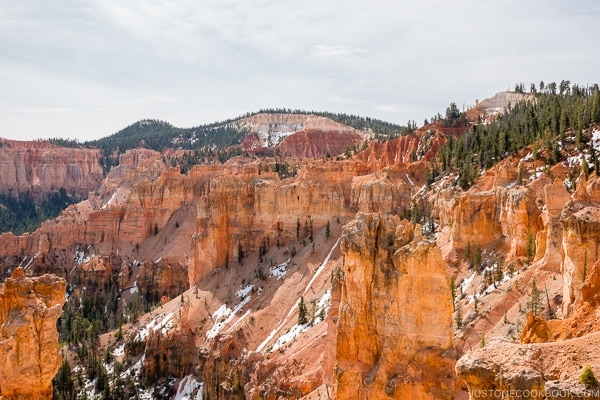 view from Black Birch Canyon - Bryce Canyon National Park Travel Guide | justonecookbook.com