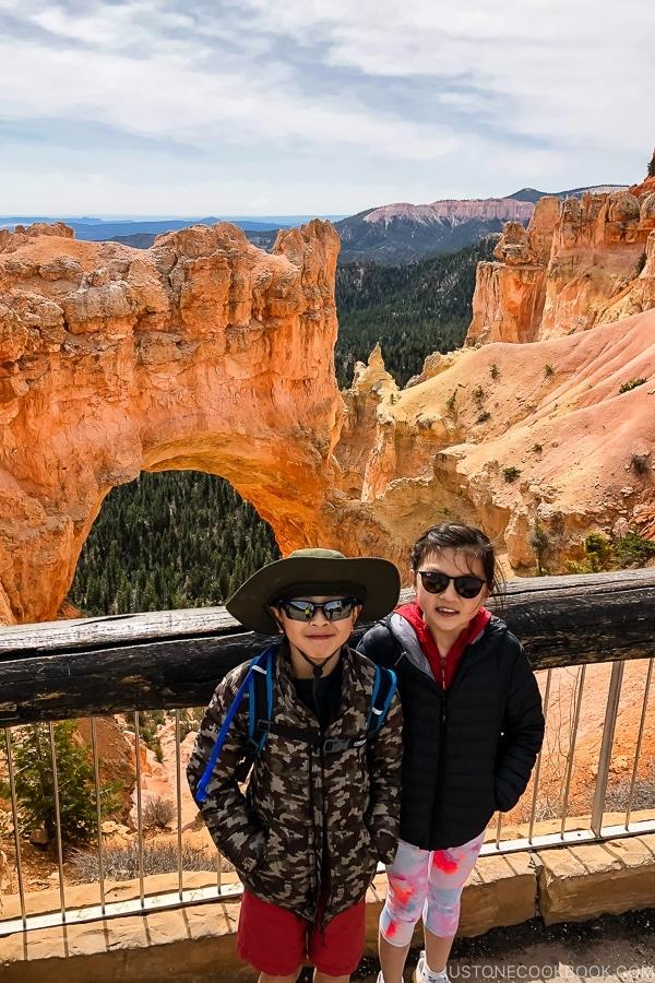 children at Natural Bidge - Bryce Canyon National Park Travel Guide | justonecookbook.com