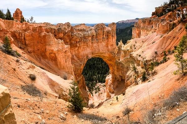 Natural Bridge - Bryce Canyon National Park Travel Guide | justonecookbook.com