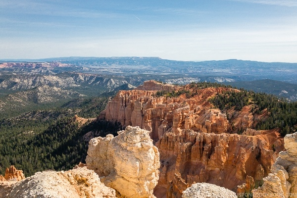 view from Rainbow Point - Bryce Canyon National Park Travel Guide | justonecookbook.com