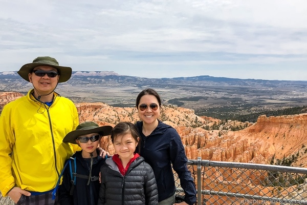 Just One Cookbook family at Bryce Point - Bryce Canyon National Park Travel Guide | justonecookbook.com