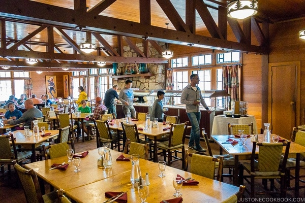 inside the dining room at Bryce Canyon Lodge - Bryce Canyon National Park Travel Guide | justonecookbook.com