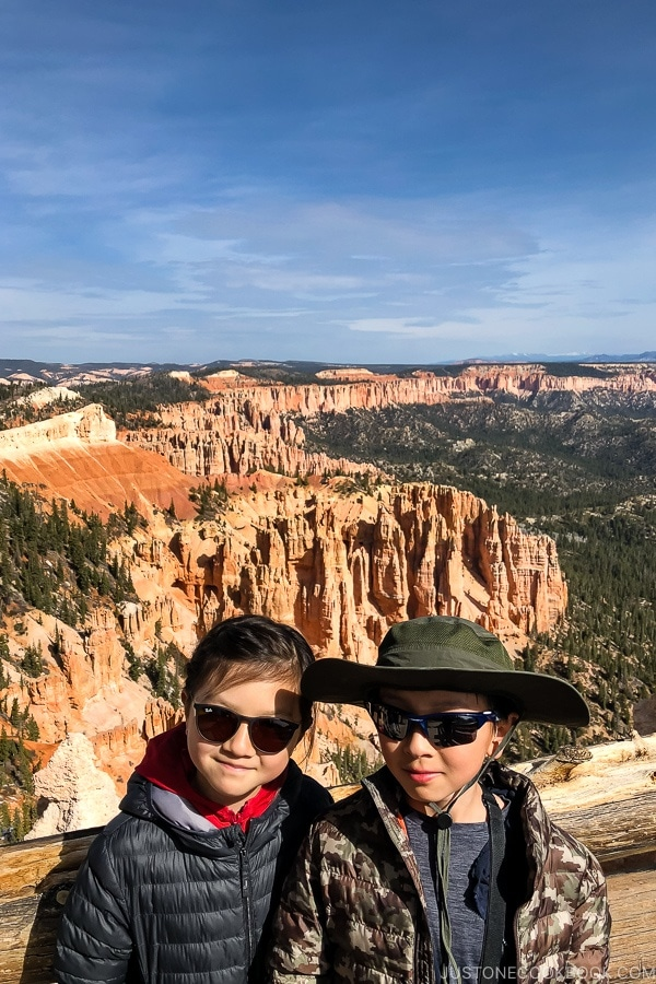 children at Rainbow Point - Bryce Canyon National Park Travel Guide | justonecookbook.com