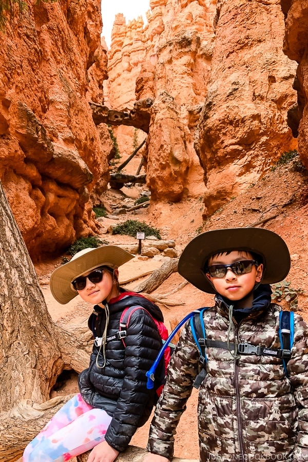 children at two bridges - Bryce Canyon National Park Travel Guide | justonecookbook.com