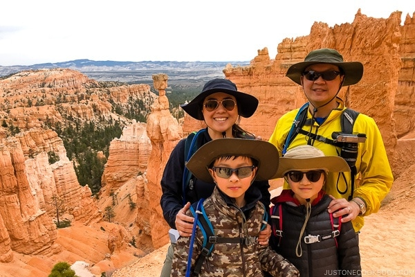 Just One Cookbook family on Navajo Loop Trail - Bryce Canyon National Park Travel Guide | justonecookbook.com