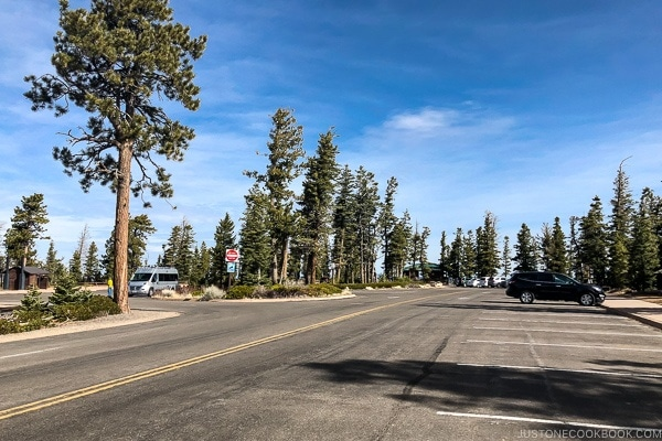 Rainbow point parking lot - Bryce Canyon National Park Travel Guide | justonecookbook.com
