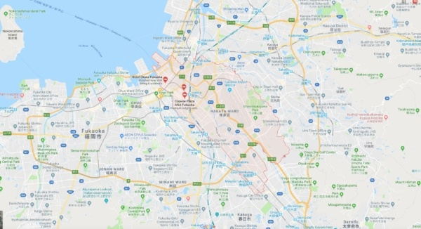 Google Map Hakata Fukuoka - Fukuoka Travel Guide | justonecookbook.com
