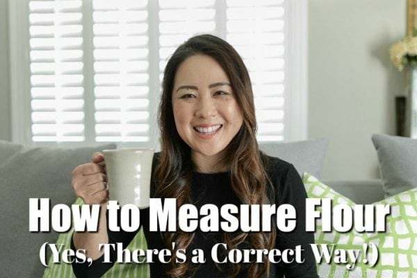 How to Measure Flour - Tea Time with Nami