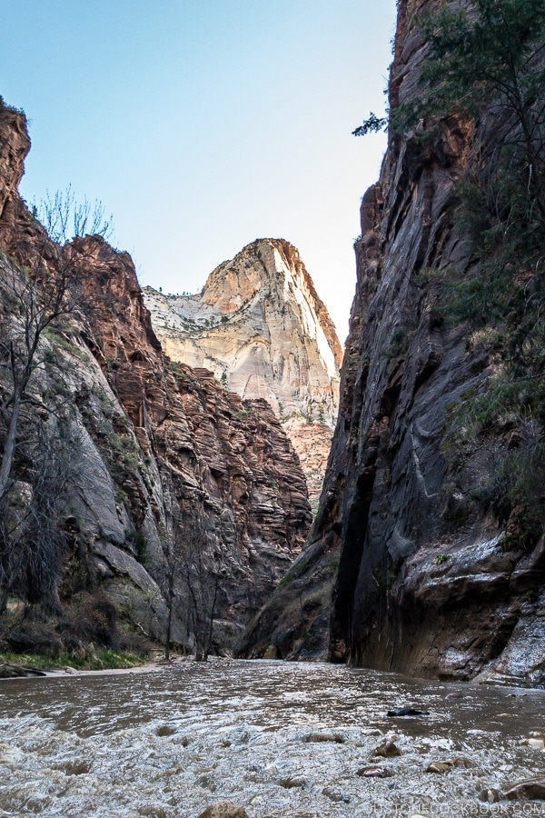 the beginning of The Narrows - Zion National Park Travel Guide | justonecookbook.com