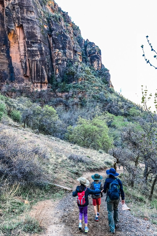 hiking on Hidden Canyon Trail - Zion National Park Travel Guide | justonecookbook.com