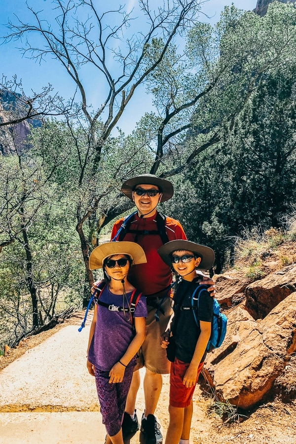Just One Cookbook family on Kayenta Trail - Zion National Park Travel Guide | justonecookbook.com
