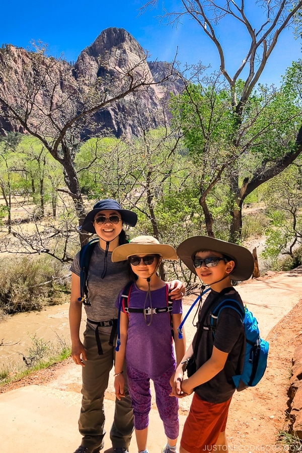 Just One Cookbook family on Emerald Pools Trail - Zion National Park Travel Guide | justonecookbook.com