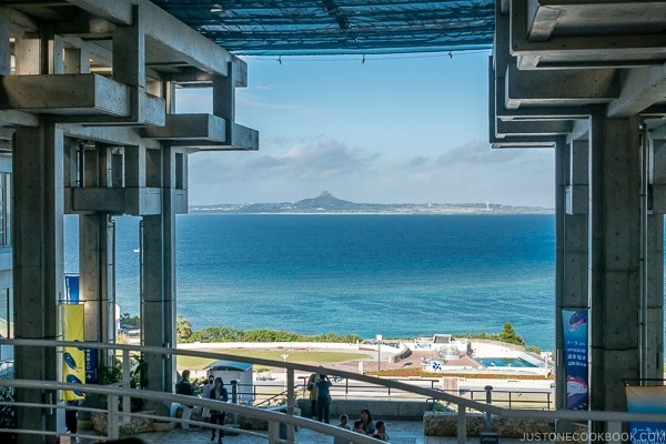ie island from Churaumi aquarium at Ocean Expo Park Okinawa | justonecookbook.com