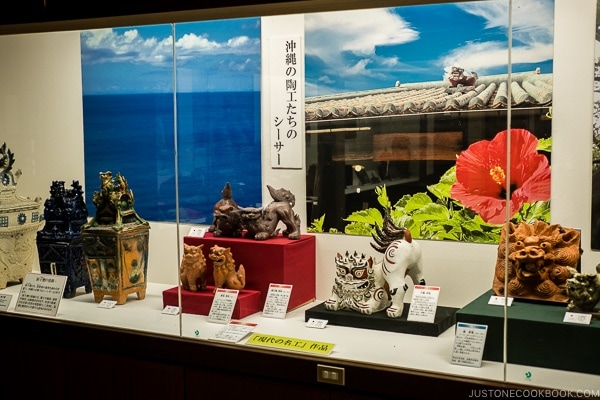 sculpture display inside Okinawa Culture Center - Okinawa World | justonecookbook.com