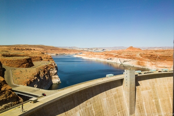 Glen Canyon Dam from Carl Hayden Visitor Center | justonecookbook.com