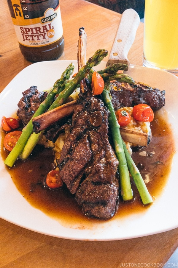 Venison chops at Rocking V Cafe Kanab Utah | justonecookbook.com