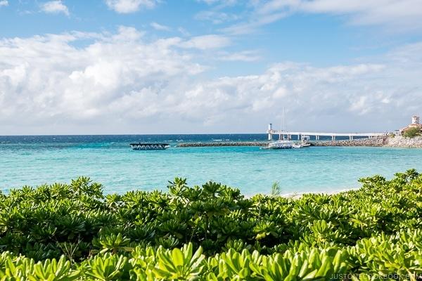 glass bottom boat dock at Busena Marine Park - Okinawa Travel Guide | justonecookbook.com