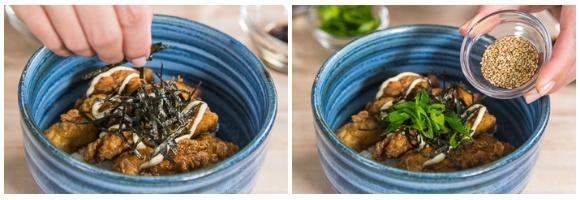 Chinese-style Chicken Karaage Donburi 13