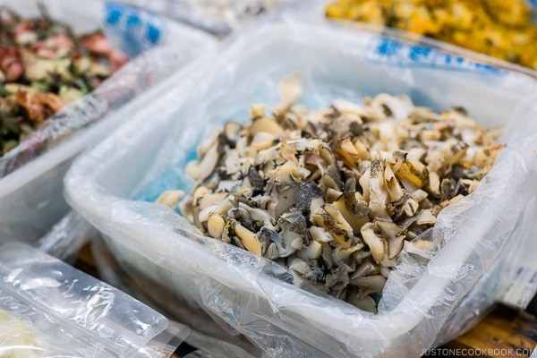 shellfish for sale at First Makishi Public Market - Okinawa Travel Guide | justonecookbook.com