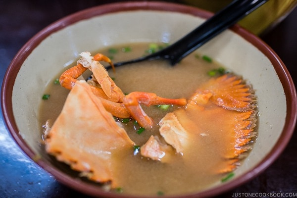 butterfly fan lobster miso soup at First Makishi Public Market - Okinawa Travel Guide | justonecookbook.com